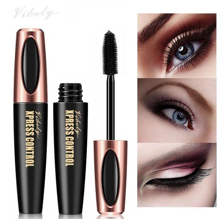 Best Quallity Face Cosmetic Plump Cool Black Waterproof Thick and Long Eye Mascara More Volume Mascara lash Makeup long lasting