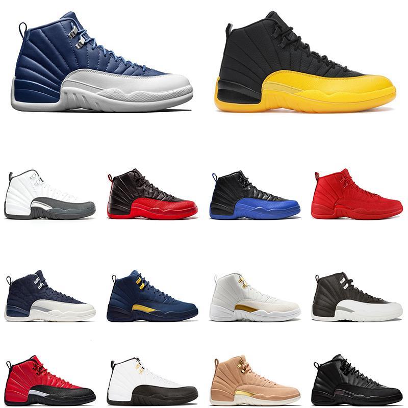 Air Jordan 12 Dark Concord scarpe da pallacanestro da uomo jumpman 12 University Gold Game Influenza reale PLAYOFF nero Gym rosso mens sneaker sportive sportive