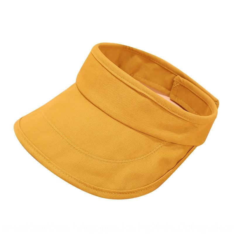 4QlTx coréenne de couleur simple plaque lumière l'été des femmes de soleil taille basse tout-match solide nouveau sans chapeau haut vide-Top bouchon de Voyage coréenne nouvelle fSesg de Voyage