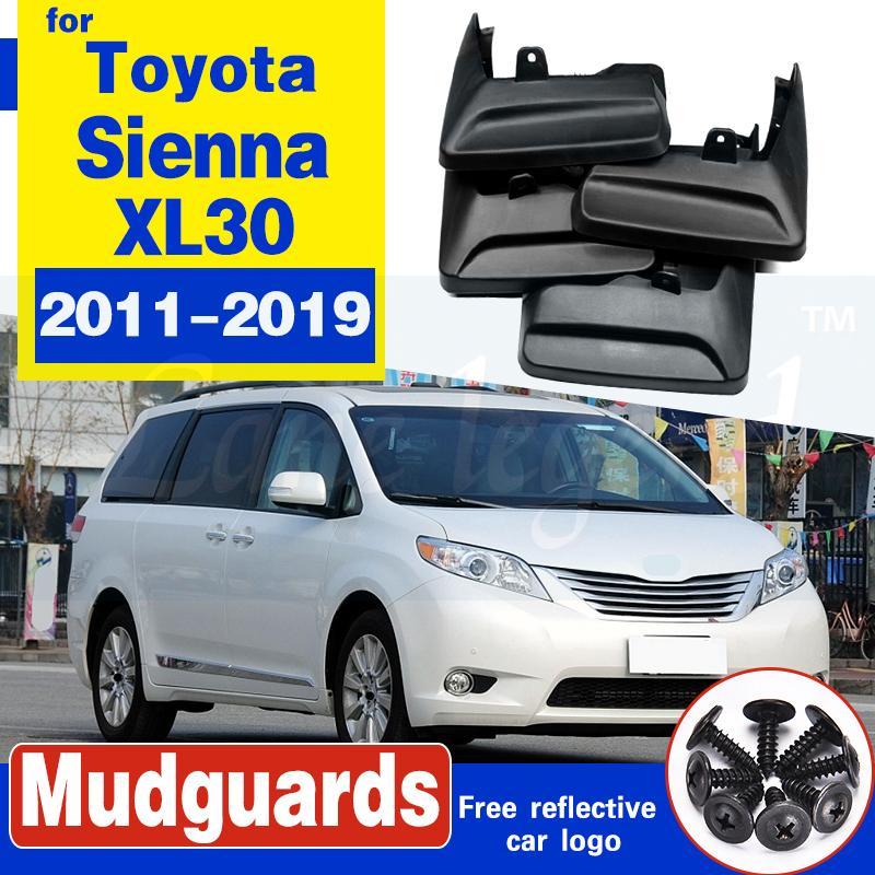 Mudflap pour Toyota Sienna XL30 2011 ~ 2019 Fender Fender Bud Guard Splash Bougles Garde-boue Accessoires 2012 2013 2014 2015 2016 2017 2018