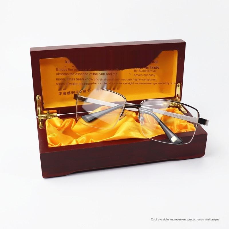 Дунхай натуральный камень старый мужской половины кадра белый кристалл очки подарочные сертификаты равнину очки ITM0