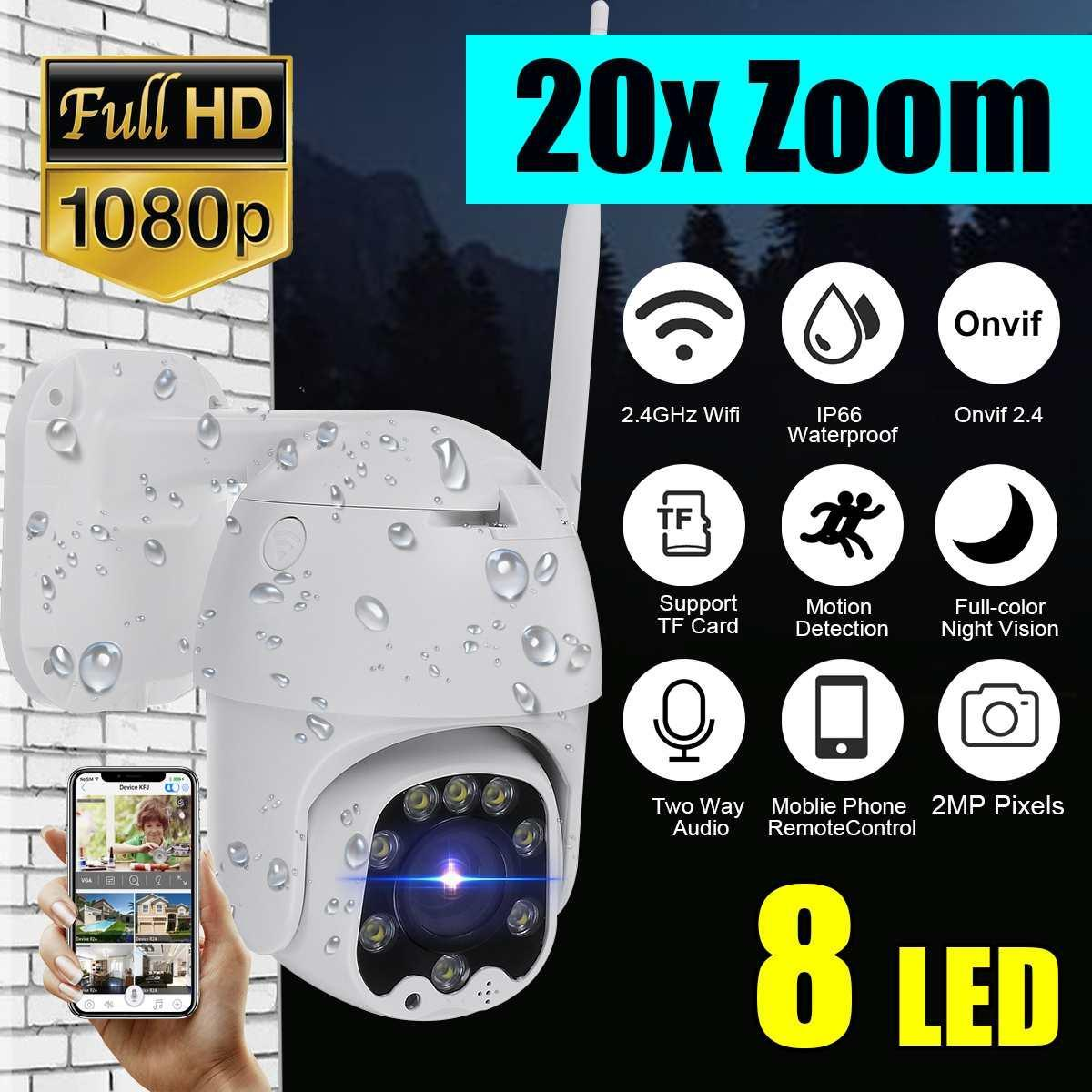 1080p Cloud Storage sem fio IP PTZ Camera Zoom Digital 4x Speed ​​Dome Camera Outdoor Wifi Áudio P2P vigilância CCTV