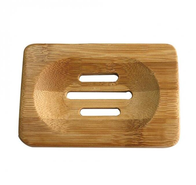 Natürliche Bambusholz Seifen Geschirr Box-Kasten-Behälter Wash Dusche Aufbockvorrichtung Seife Behälter-Halter für Badezimmer