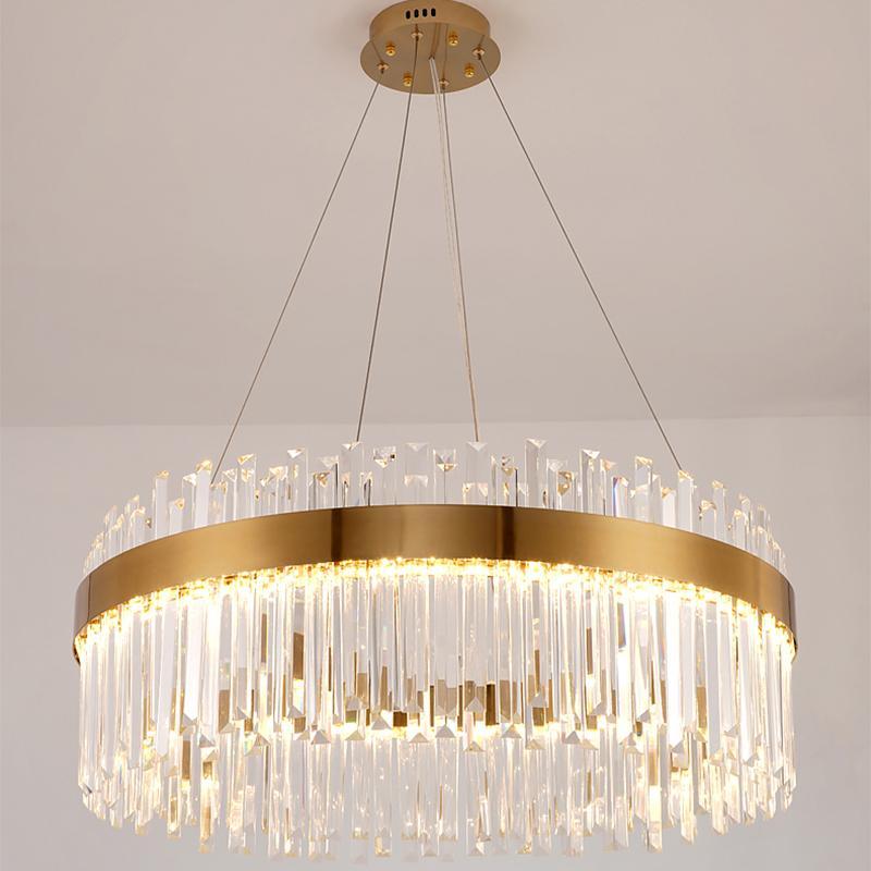 cristallo di luce lusso soggiorno lampadario di pubblicare moderne lampade camera da letto minimalista creativo ambiente di design sala da pranzo