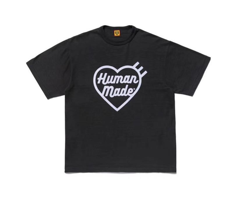 20ss Oversize İNSAN YAPIMI Tişörtlü Erkekler Kadınlar İyi Kalite Slub Pamuk Üst Tees Streetwear Hip Hop İNSAN YAPIMI Tişört Kısa Kollu Tee