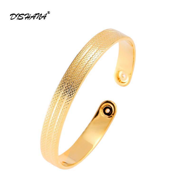 Offener Metall-Armband-Armband für Frauen-justierbare ursprüngliche Entwurfs-Kupfer-Stulpe Luxuxschmucksachen Goldfarben-Armband-S0079