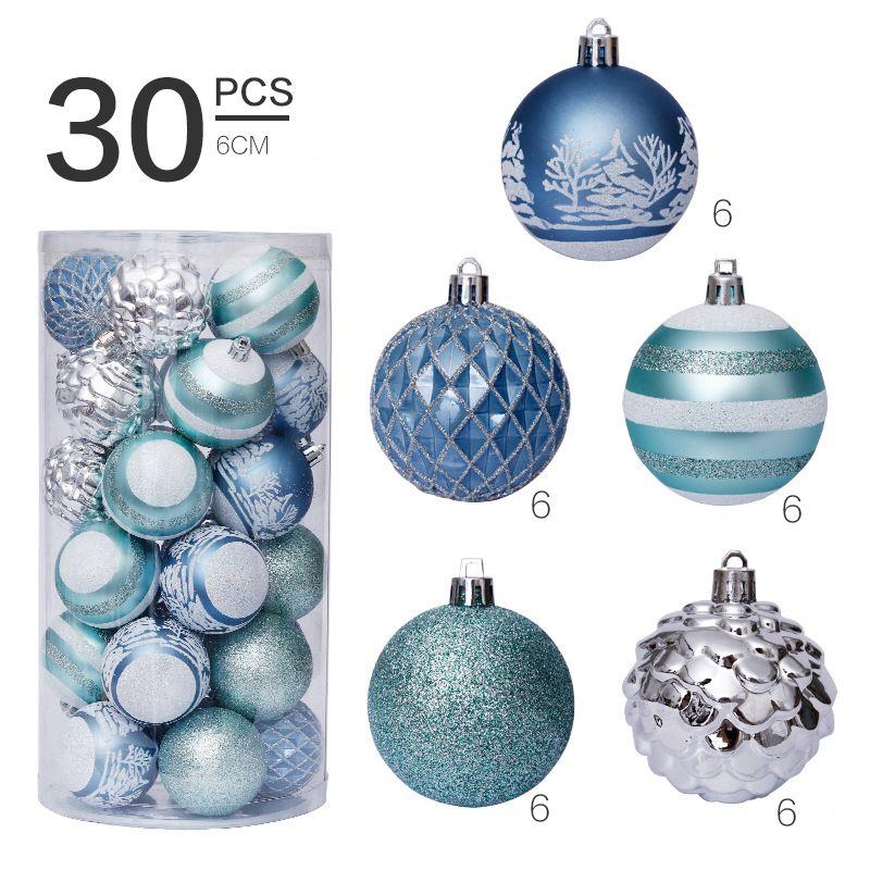 30pcs Christmas decorations balls tree ornaments large foam Styrofoam decoration toys on the Christmas tree 6cm Ball Baubles new