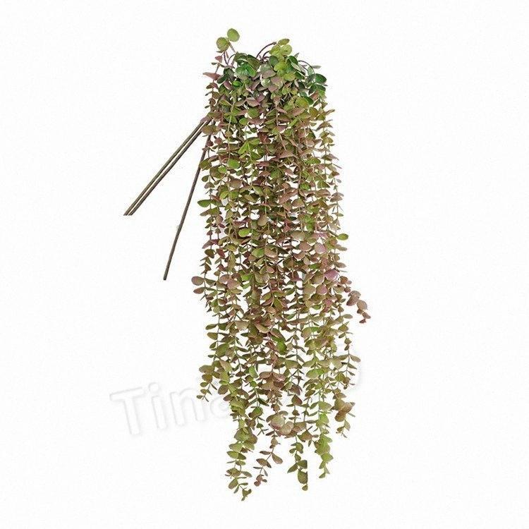 мода Искусственный цветок Vine Поддельный Шелковый Серебряный доллар Эвкалипт висячие Зелень завод для венчания Декоративные цветы PartywareT2I56 dVH7 #