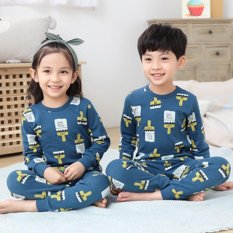 منامة الشتاء الأطفال ملابس الاطفال مجموعة ملابس الفتيات مجموعات الكرتون نوم القطن الطفل النوم منامة الدعاوى
