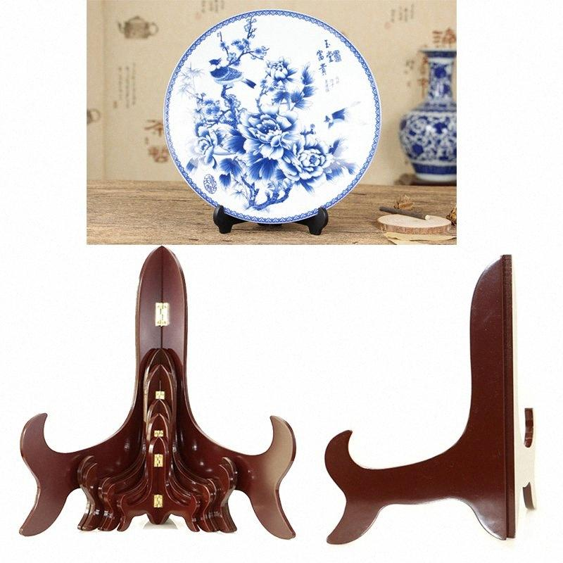 Wooden Holder Bracket Stand Decor Picture Base Home Plate Phone Display Easel High End Tablet PC QNMF#