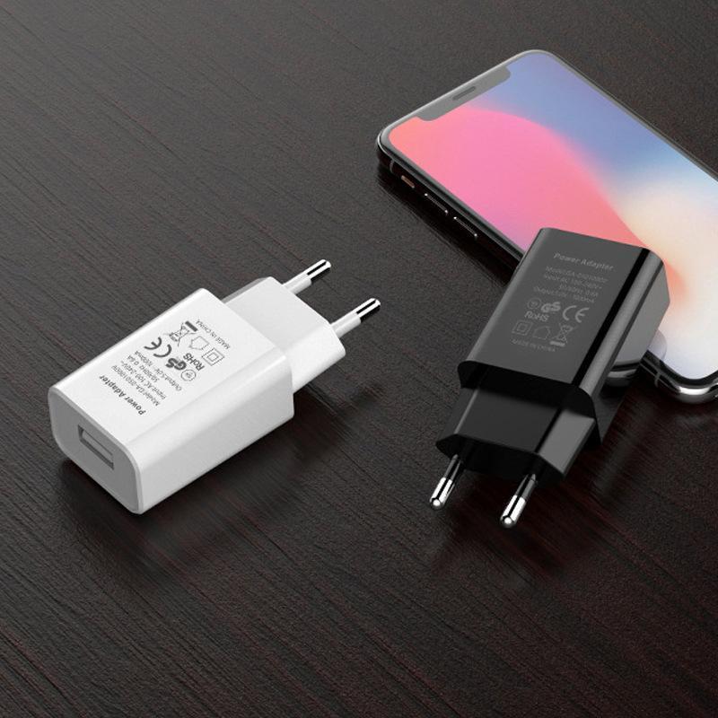 5V / 1A di alta qualità caricatore diretto del telefono mobile di ricarica USB Plug Testa Della certificazione CE caricabatterie 2 colori -1