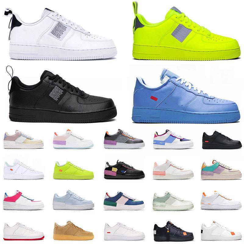 Força modaUm LOW MCA Universidade Azul Sup Branco preto Utility Olive mens sapatos de skate Apenas É O corredor das mulheres sapatos Trainers