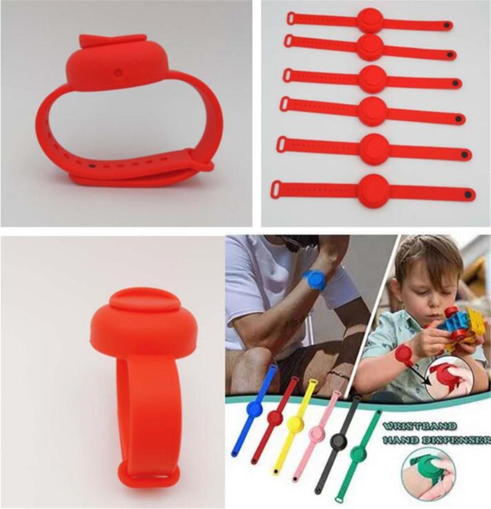 Nuova casa Wristband mano Dispenser per adulti Kid Silica Gel Hand Sanitizer Dispensing Wearable Dosatori Disinfecta fascia della mano polso