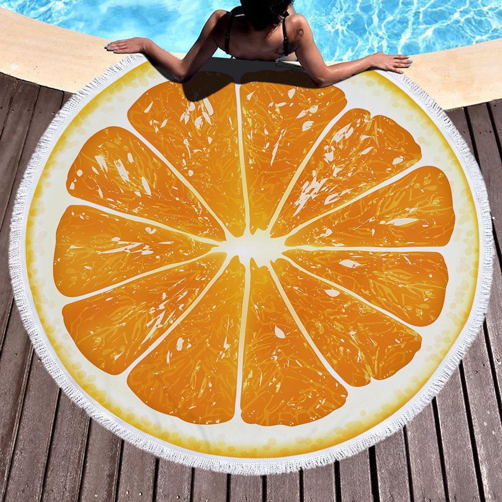 stampa rotonda telo mare multi-stile anello scialle sportiva ombra sulla spalla picnic coperta di yoga asciugamano tappetino da bagno