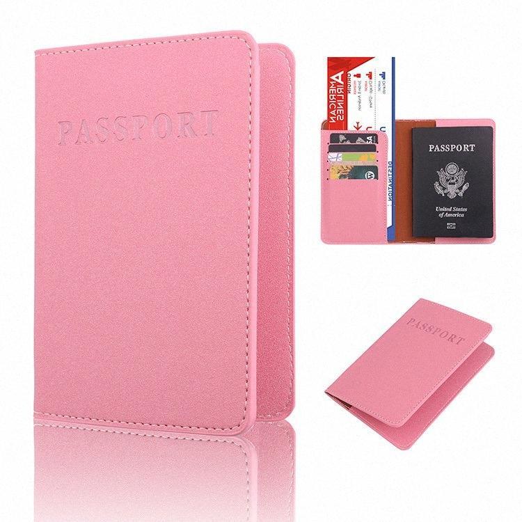 Kimlik Kartı Belge Kartı Pasaport Tutucu Çanta Cüzdan Kılıf LX0998 wZRg için # Yüksek Kalite Renkli Mat Pu Deri Pasaport Çanta Kapak