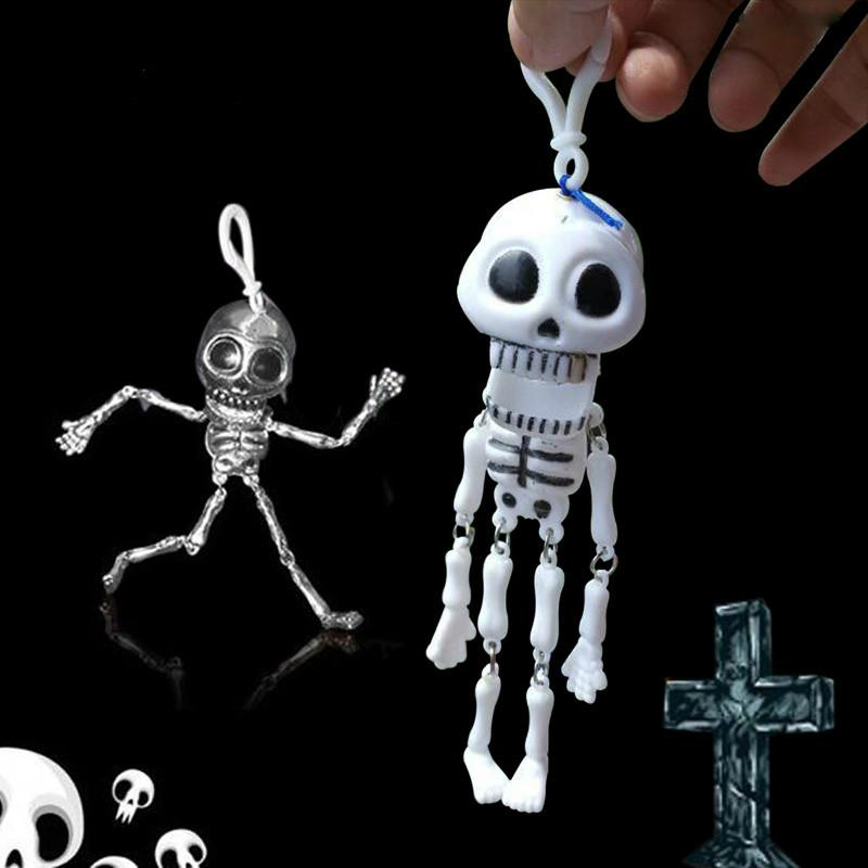 1pcs 19cm Dancing Skeleton Toy Party Joke Prank Novelty Trick Funny Skull Decanter Toys for Kids and Adult Halloween Supplies Gift