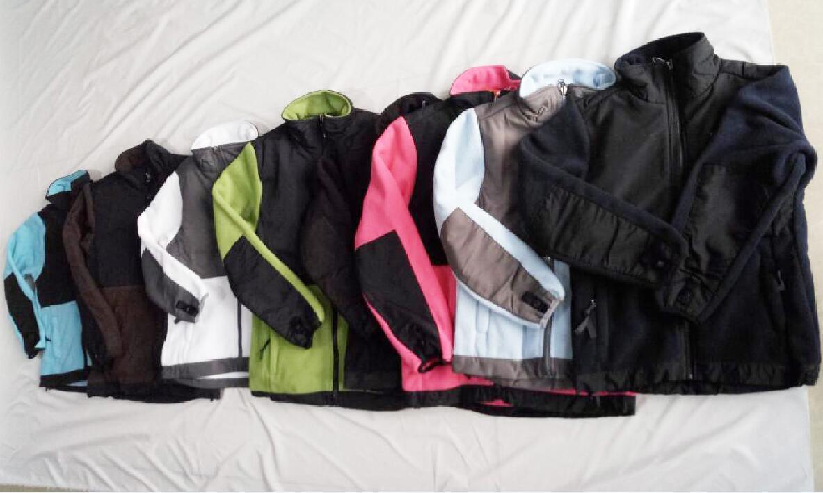 새로운 겨울 KIDS 양털 Osito 북쪽 재킷 패션 겨울 오소 SoftShell 자켓 KIDS 야외 아래로 스키 얼굴 코트 방풍 캠핑 코트 (102)