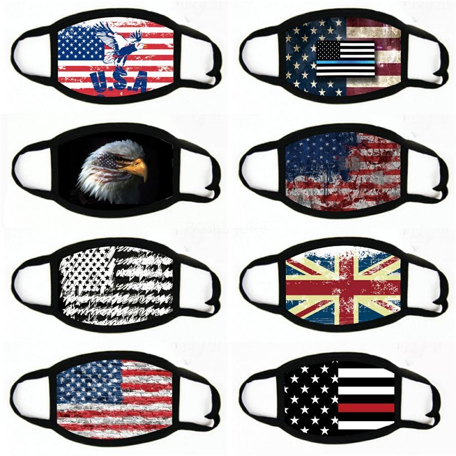 Bandera americana de la motocicleta Pañuelo Variedad turbante novedad Pañuelos magia diadema Multi jefe Scarve Riding Celada # 983