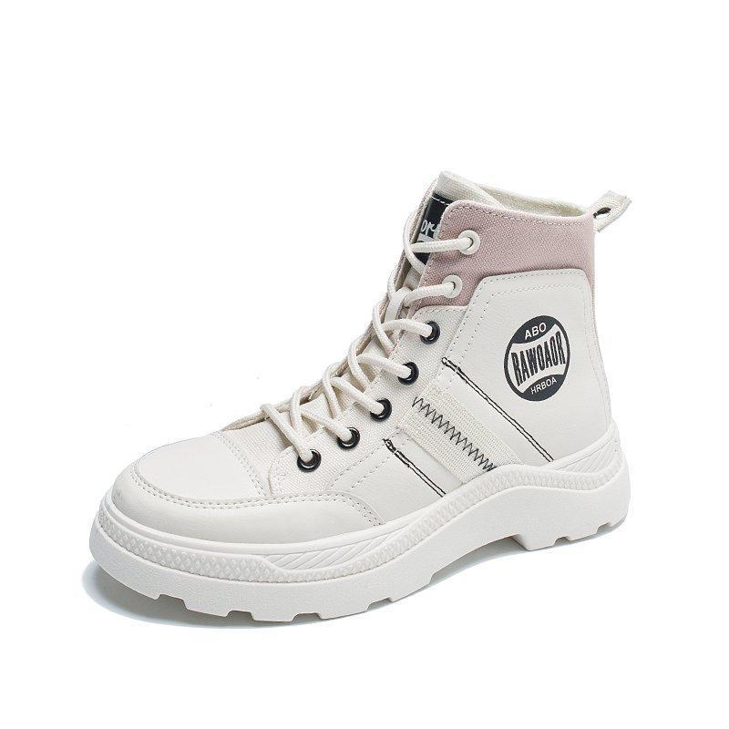 03 ----- 2020 nouvelles dames bottes chaussures lumineux miroir mode PU cuir imperméable femme bottes Martin bottines
