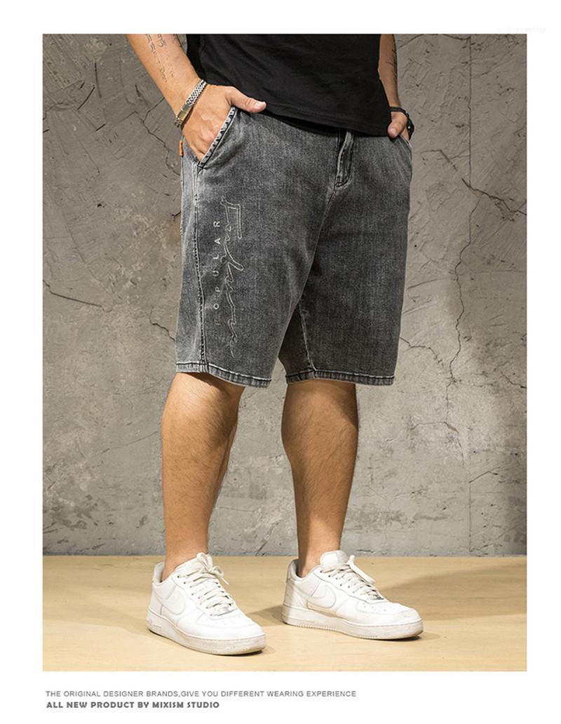 Hommes Shorts Designer Jeans délassantes en vrac Longueur genou Vêtements Homme Mode Zipper Fly multi Pocket