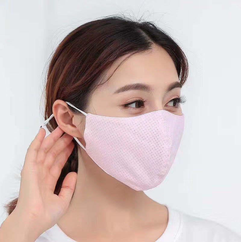 Шелковый стерео дышащий для мужчин и женщин лето лицо пыле Зонт очищаемый Ice Прохладный Uv Protection Mask Thin