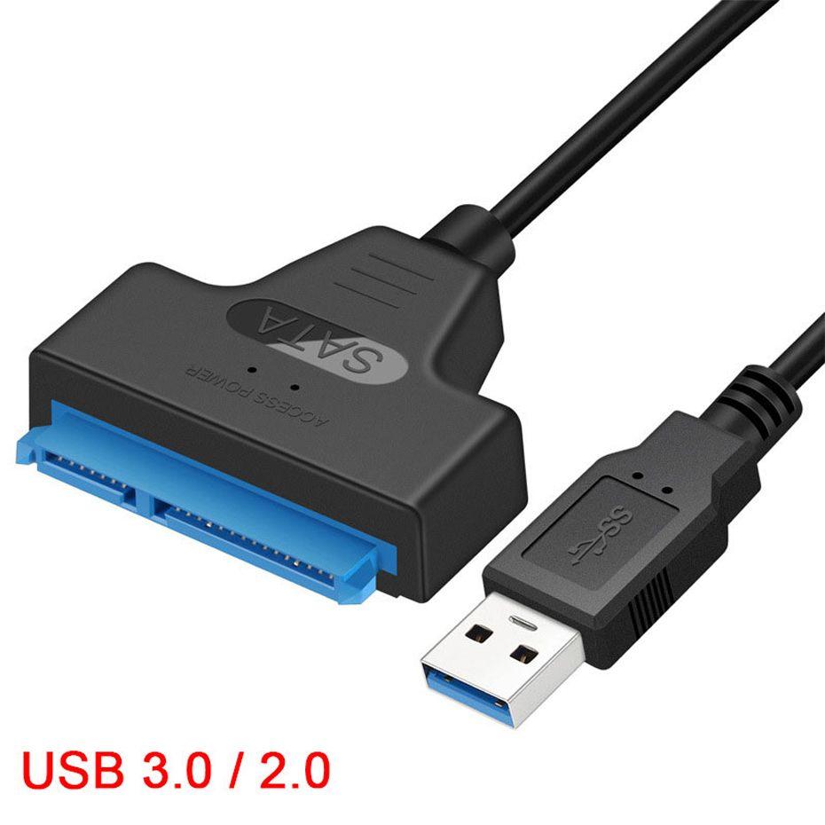 Adattatore da cavo SATA a USB 3.0 SATA7 + 15 PIN SUPPORTO SUPPORTO DISTERNO ARD HDD SSD esterno da 2,5 pollici 22 Pin SataiII A25