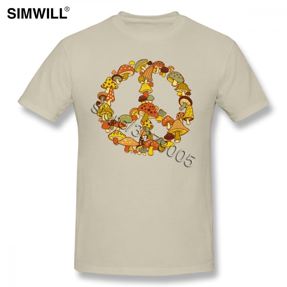 2019 Bague Mushroom Men T-shirts Extra Large pur coton à manches courtes T-shirt O Neck T-shirt Habillement T-shirts Graphique