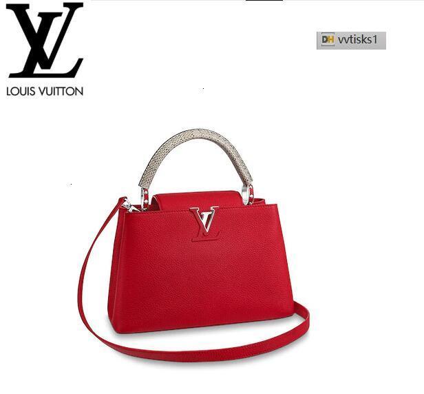 vvtisks1 MITL M51150 Capucines PM Rubis Women HANDBAGS ICONIC BAGS TOP HANDLES SHOULDER BAGS TOTES CROSS BODY BAG CLUTCHES EVENING