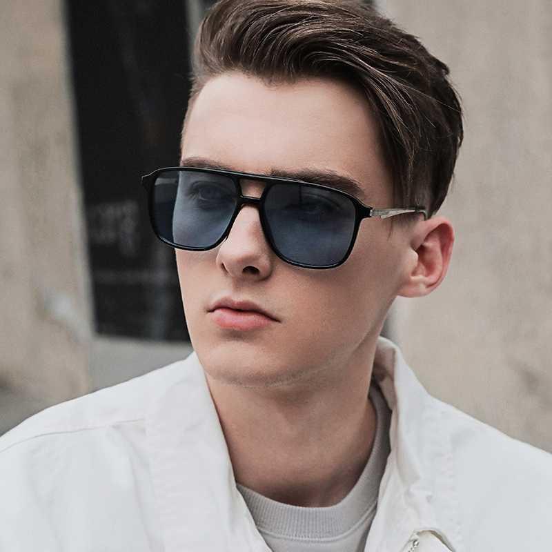 homens ROUPAI óculos de sol 2020 polarizada moda uv400 designer de marca de alta qualidade de condução mens vidros de sol quadrado preto clássico