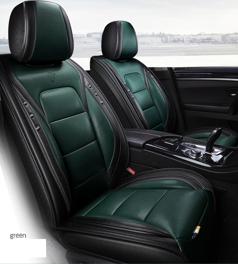 Universal Fit Car Accessories Interior Car Seat Covers Full Set For Sedan PU Leather Adjuatable Seats Covers For SUV 5 Pieces Seat Cushion07