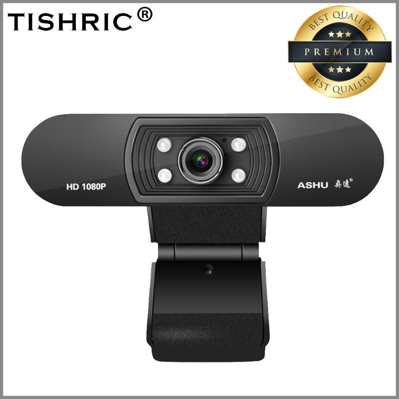 TISHRIC Веб-камера с микрофоном Ашу H800 USB 2.0 Веб-камера с разрешением Full HD 1080P Запись видео Веб-камера для живого вещания Видеозвонок