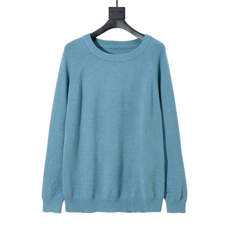 Maglione Nuovo Inverno a maglia camicia del pullover uomini maglione di modo ricamo o collo maglione manica lunga da uomo Donne Felpa formato XS-L