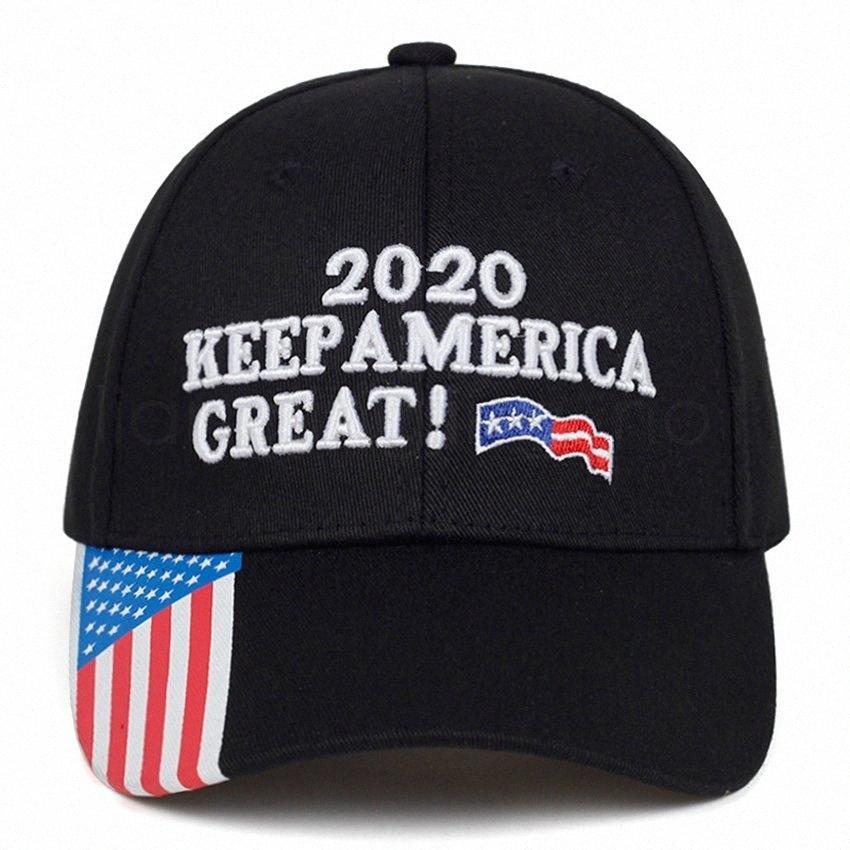 Donald Trump Berretto da baseball USA Flag 2020 Keep America Great Again Lettera ricamato all'aperto per adulti Sunhat favore di partito FFA4077 4 Maschio P n8GM #