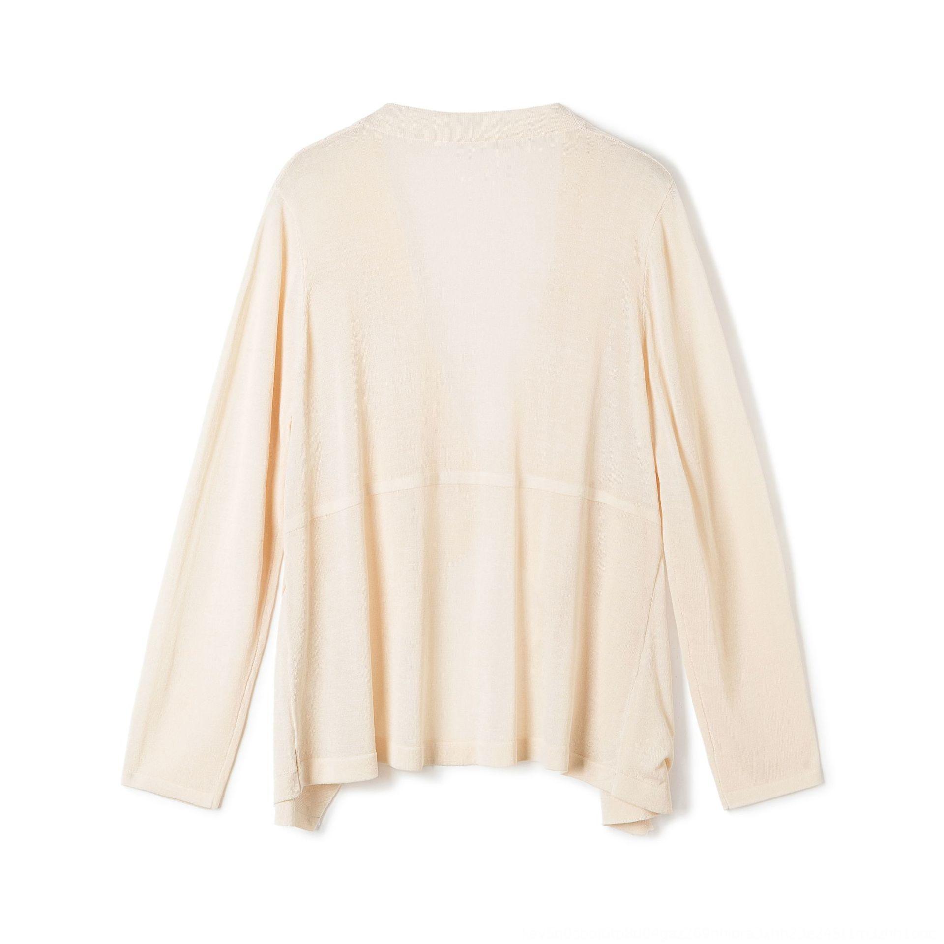 eewI4 Ice шелк вязаный кардиган 2020 лето пальто шаль шаль случайные Корейский свободный новый стиль сплошной цвет полой пальто женщин