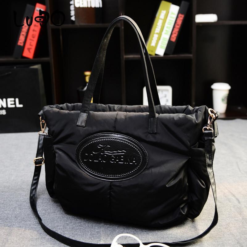 Hiver Femmes Mode Sacs à main Espace Coton Matériel Grand paquet vers le bas Veste Sac chaud sac fourre-tout Sac A Main Bolsa FGH