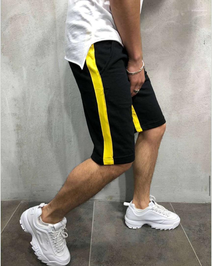 Sport Atletica Designer Mezza pantaloncini di cotone Shorts Pantaloni Mens a strisce pantaloncini estivi casuale