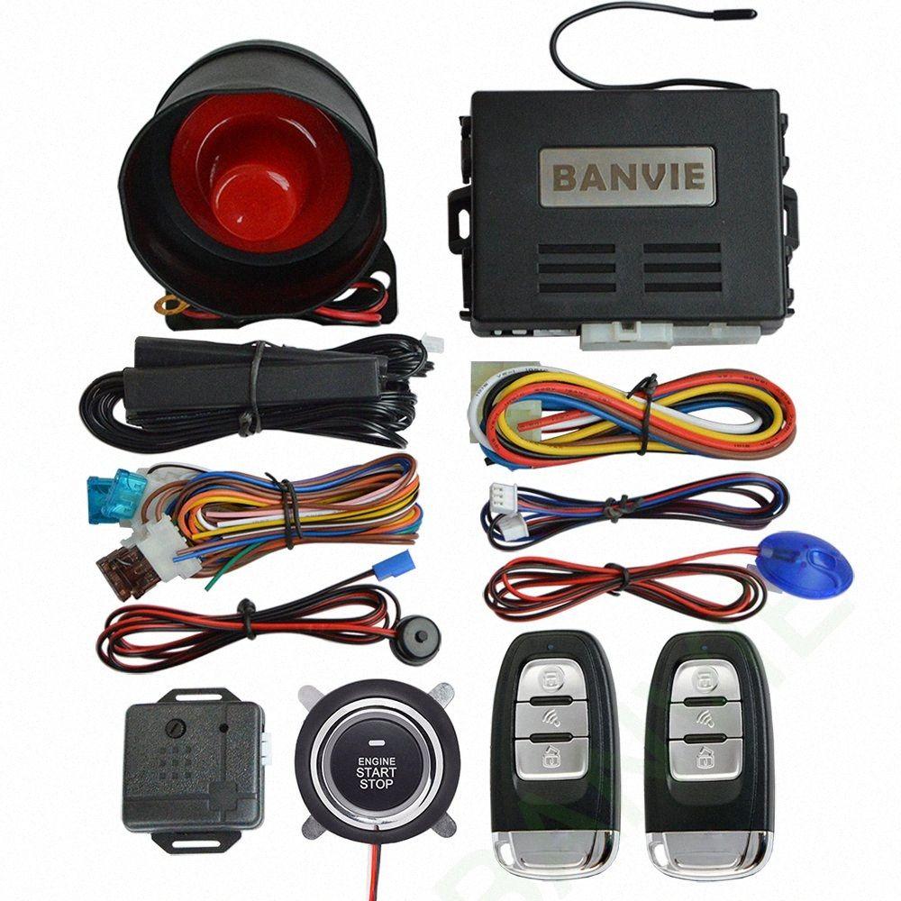 BANVIE Universal PKE Car Security Alarm System with Remote Engine Starter / Start Stop Push Button / Passive keyless go starline HEIk#
