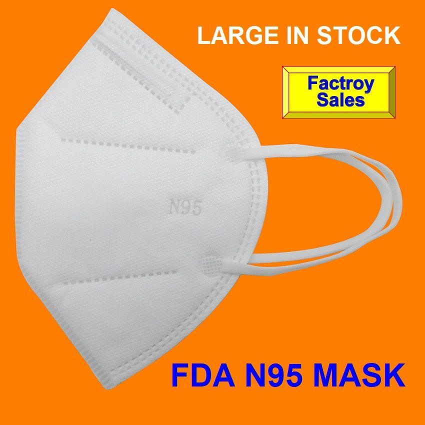All'ingrosso della fabbrica In stock DHL libera il trasporto N 95 Maschera Maschera Respiratore Registrazione US generi alimentari Amministrazione