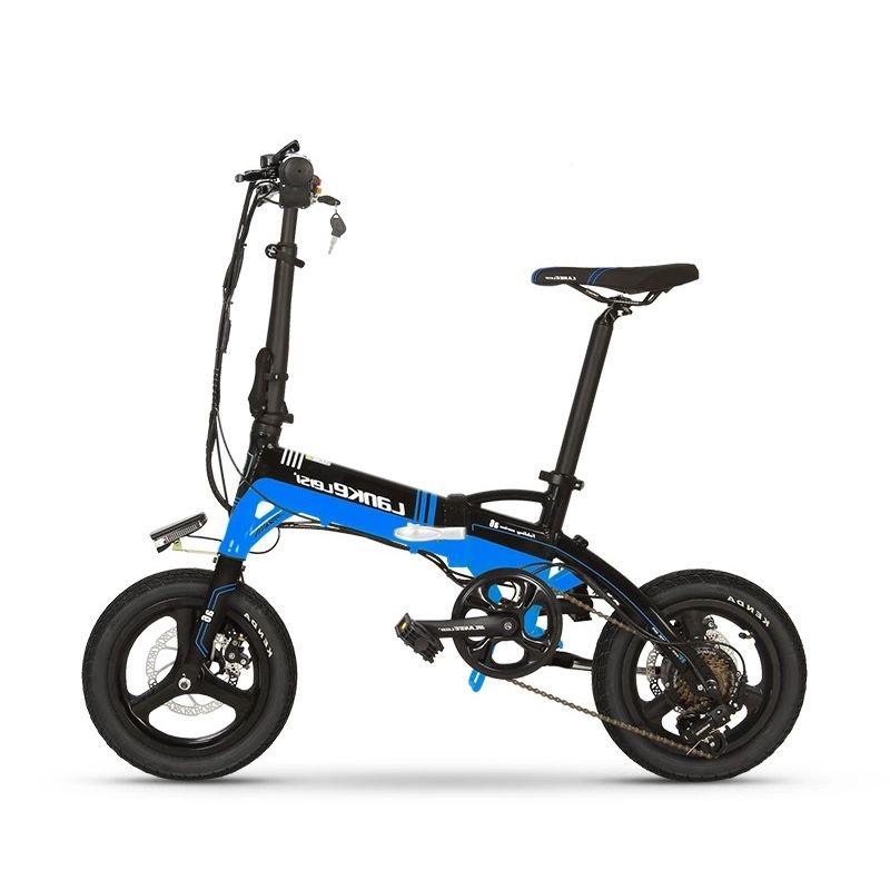 A6 14 pouces pliant vélo électrique lithium vélo électrique avec LED pour les hommes femmes enfants 240W moteur