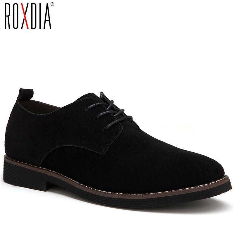 ROXDIA plus la taille 39-48 hommes en cuir véritable imperméable appartements occasionnels robe oxford chaussures homme lacer pour le travail des mocassins homme RXM098