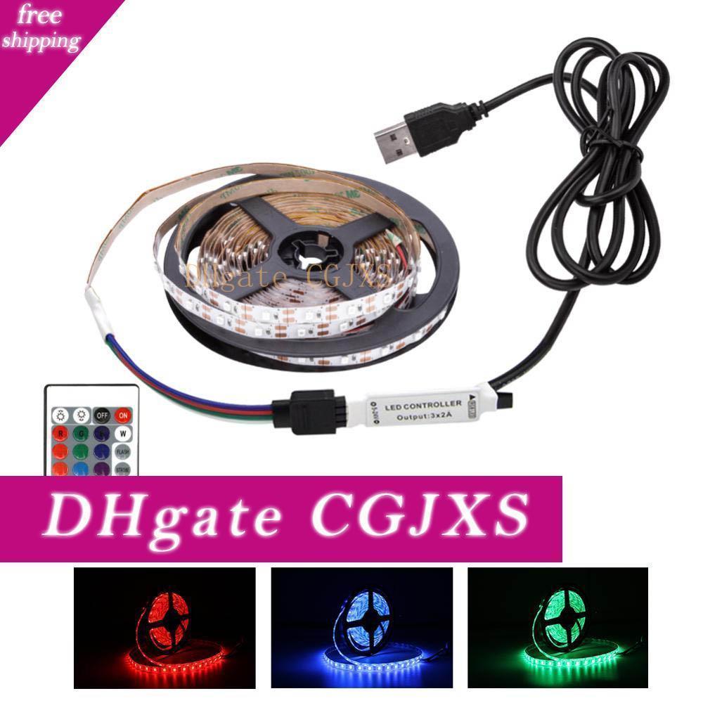 Dc la Usb Rgb LED Light Strip Ambilight 2835 50cm -5m éclairage de bureau Neon Rgb Led Usb Lights bande lampe diode bande ruban