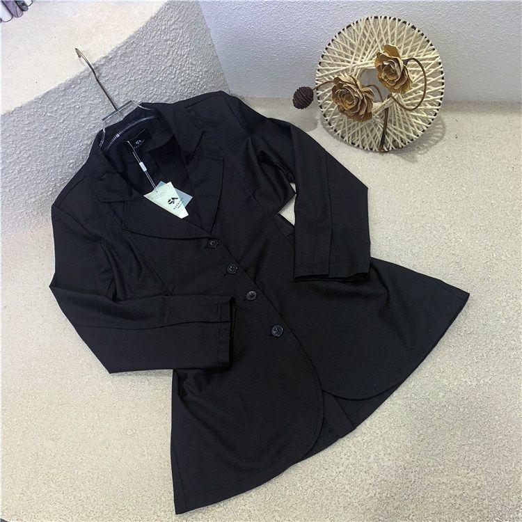 Gut Mantel Morgen Fan Fan schwarz offene Taille Internet Berühmtheit Jackett des Sommers der Frauen dünnen koreanischen Stil Herz-made beiläufige Klage oben naOJ4 na