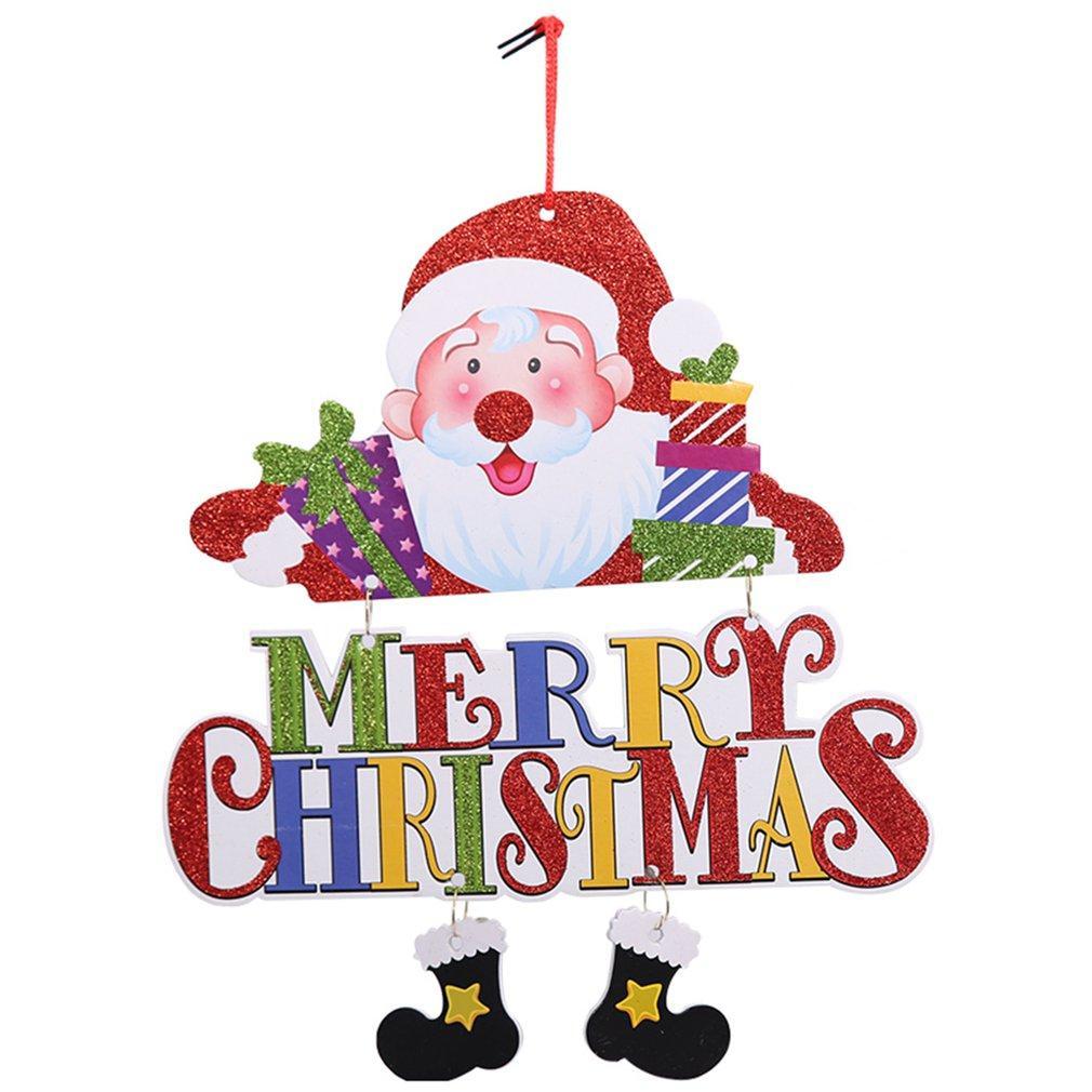 Nueva puerta de la Navidad Decoraciones de Navidad de PVC Stilted de Santa muñeco de nieve Colgar barra de la tienda Festivel Decoración