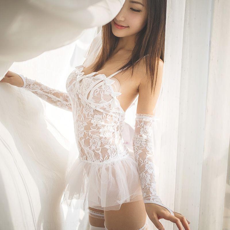 pjQ0t cCFUs atractivo conjunto de novia de falda Pengpeng perspectiva de conjunto de ropa interior ropa interior de encaje con malla Pengpeng falda atractiva para las mujeres 84 #