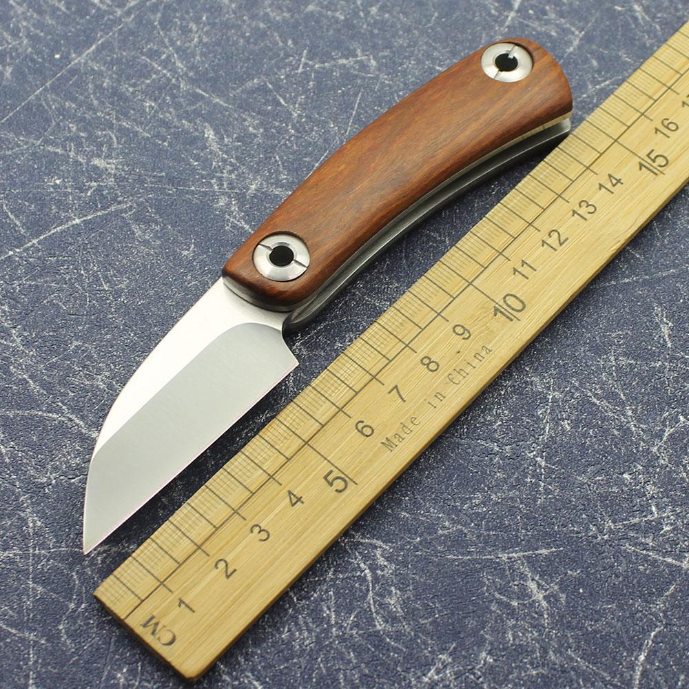 Yellow Sandalwood Razor Wild Survival Tool Outdoor Tactical Hunting Folding Knife Outdoor Survival Knife Sharp EDC Tool