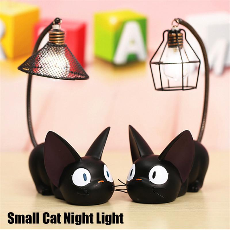 Harz Katzetierisches Nachtlicht Ornamente Home Decoration Geschenk Kleine Katze Kinder Lampe Breathing LED-Nachtlicht