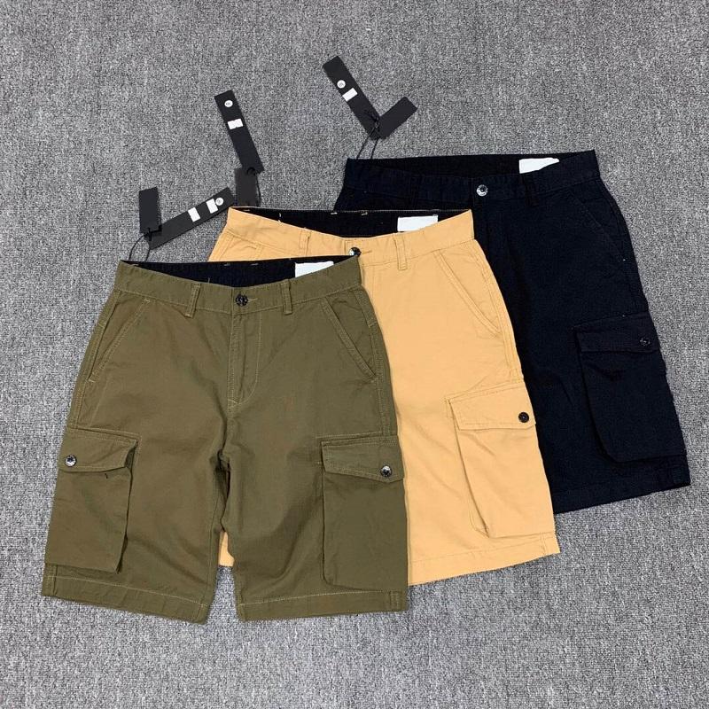 여름 남성 반바지 조깅 바지 남성 디자이너 바지 남성 조깅 솔리드 블랙 블루 바지면 반바지 M-2XL # 611
