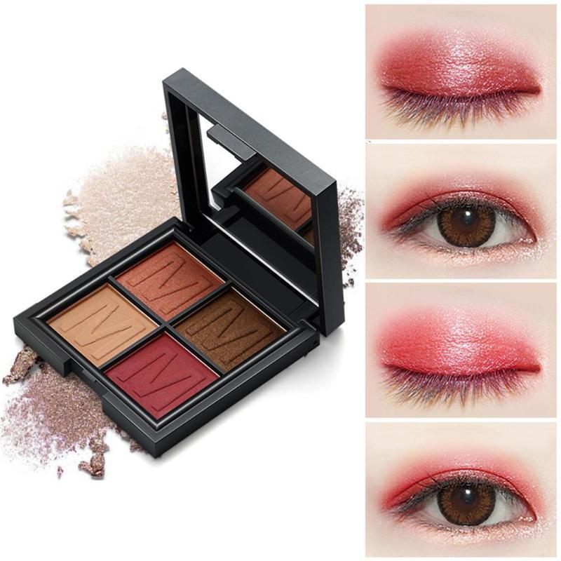 Moda 4 Renk Göz Farı Makyaj Pallete Mat Göz Farı Paleti Elmas Göz Farı Pudra Pigment Kozmetik