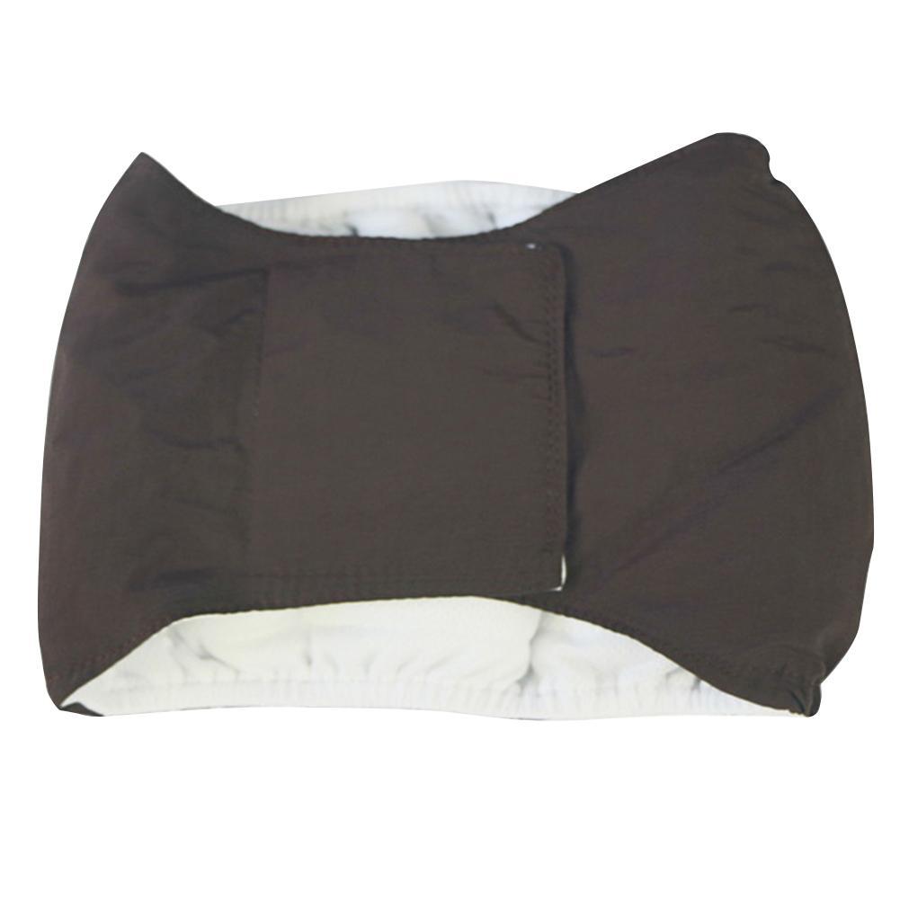 Orina cojín suave y transpirable pañal reutilizable para mascotas perros macho Cinturón Pantalones fisiológicos