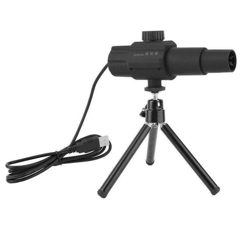 USB Smart Digital cannocchiale del telescopio regolabile Camera scalabile ZOOM 70X HD 2.0MP Monitor per Fotografare videoregistrazione